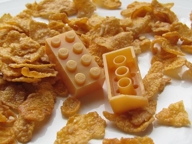 Lego BASF cornflakes bricks