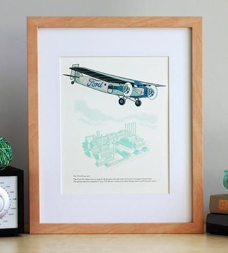 Graphic Design Ideas Ford Tri Motor Airplane Art Print B Flickr