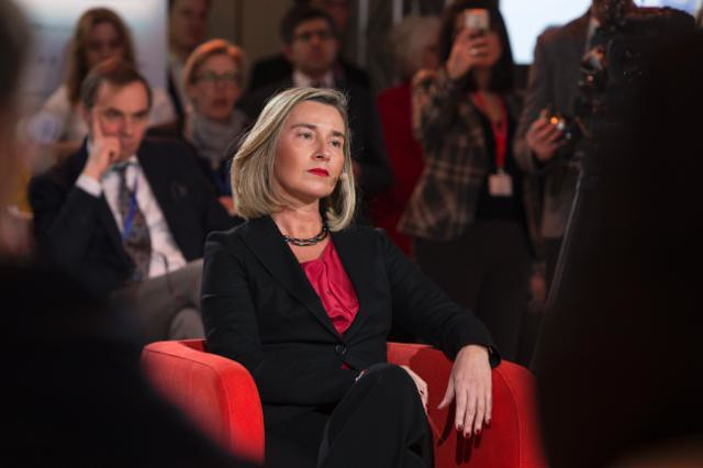 Federica Mogherini, Vice-President of the EC, visits the f