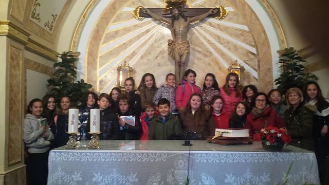 (2018-03-19) - Visita ermita alumnos Pilar,6º, profesora religión 9 Octubre - Marzo -  María Isabel Berenguer Brotons - (02)