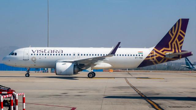 Vistara Airbus A320NEO VT-TNC Bangalore (BLR/VOBL)