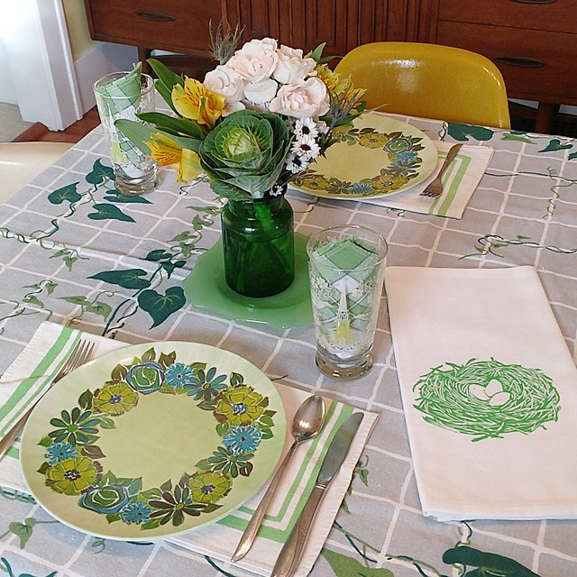 March 2018 table setting