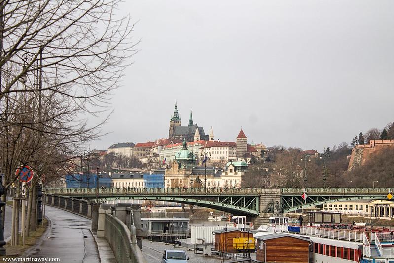 Čechův most e il Castello di Praga