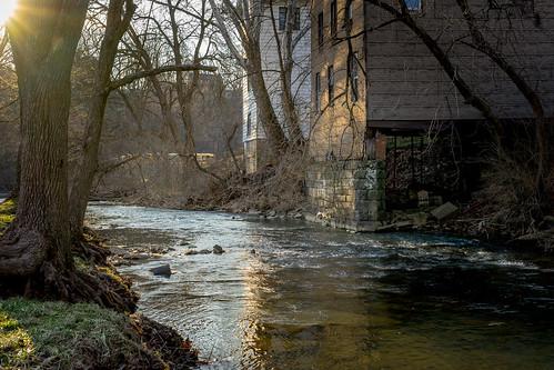 manor park pennsylvania pa playground creek stream river water rocks children child ilce7 john brighenti johnbrighenti