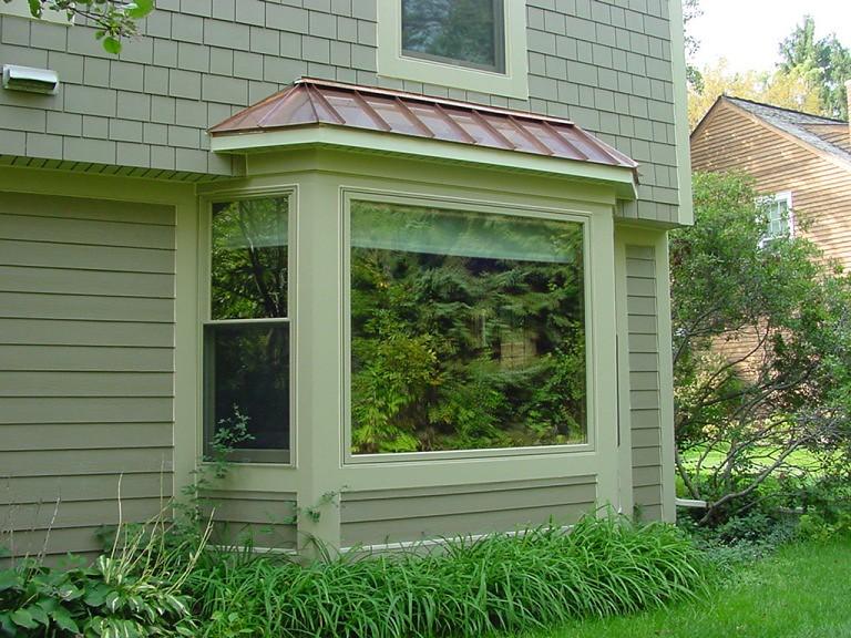 andersen bay window copper roof