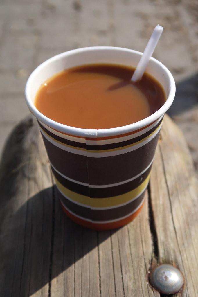 Kaffee Mit Milch Und Zucker Vom Kuchenbuffet Beim Ibbenbür Flickr