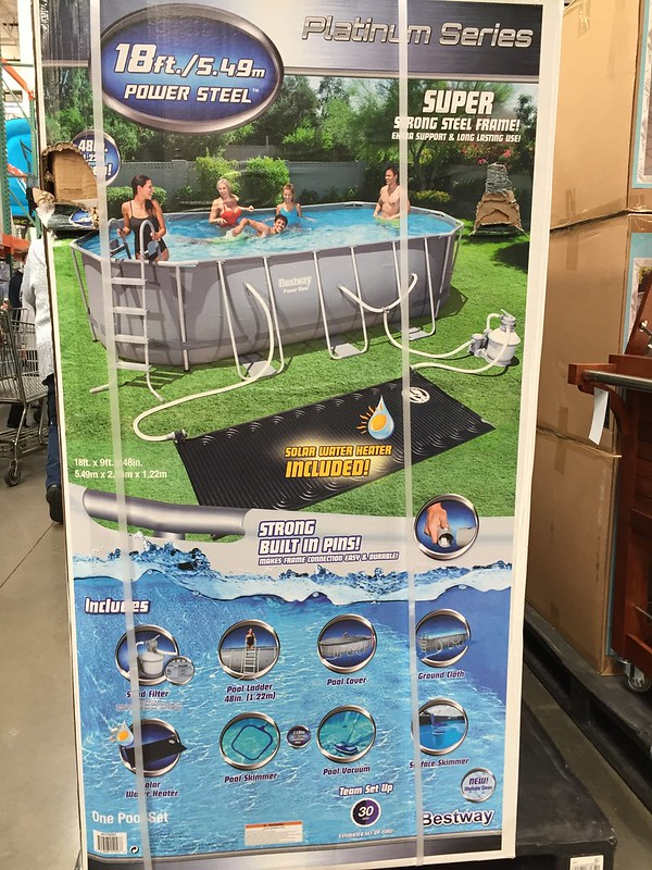 above ground Bestway pool from costco