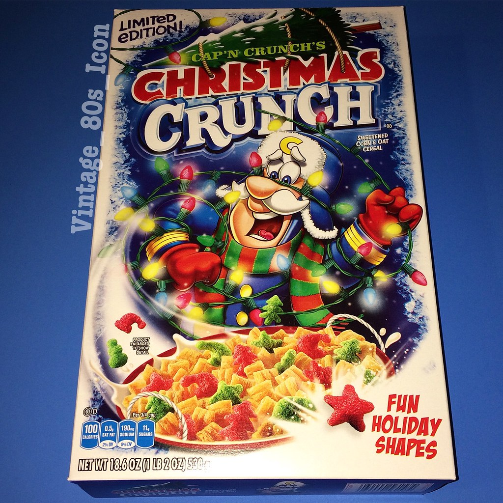 Christmas Crunch Cereal.2017 Quaker Cap N Crunch Christmas Crunch Cereal Vintage