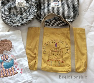 1-1. Indian Girl Tote Bag | by Beelationship Embroidery Studio