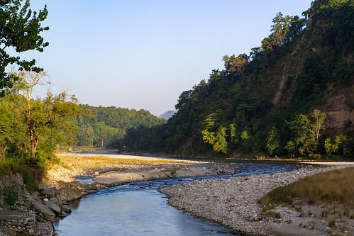 corbettriversideresort india kosiriver ramnagar river uttarakhand shotfromroombalcony