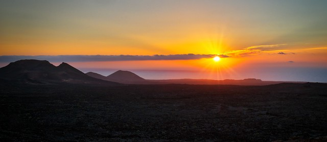 Sunset at Timanfaya