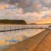 Sunrise Seascape and Sea Pool by Merrillie
