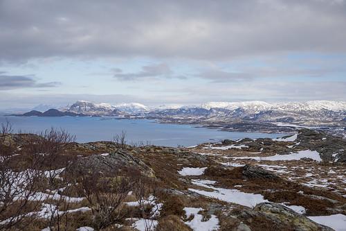 alpine coastal landscape sømna sea mountains winter snow norway nordnorge northernnorway norwegiancoast