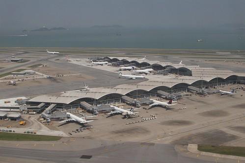 Western end of Terminal 1 at Hong Kong International Airport