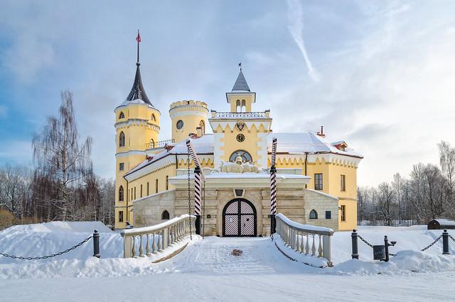 Bip fortress in Marientahl park on winter morning.