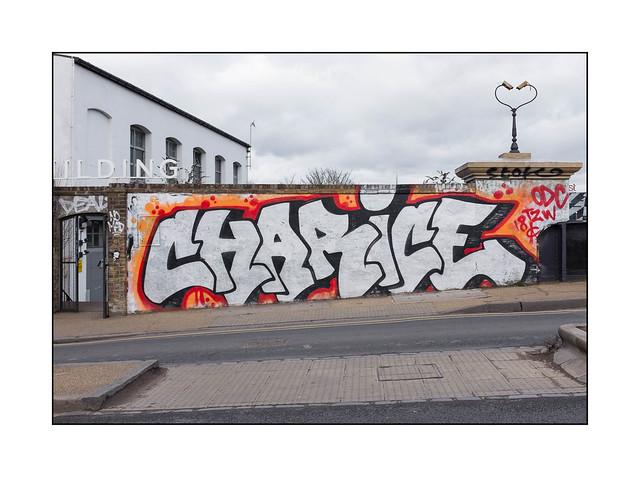 Graffiti (Charice), East London, England.