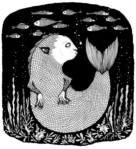 lurking fishie   by MISUNEITI