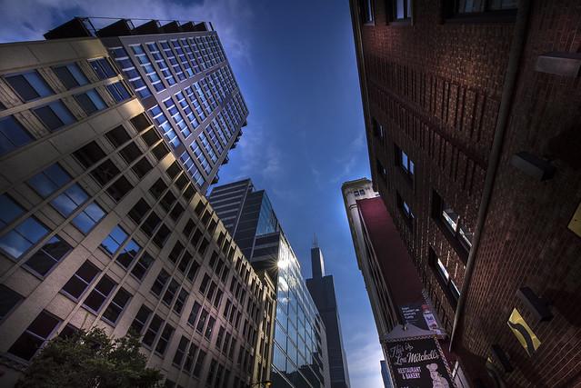 View to Willis Tower on the W Jackson Blvd - Chicago - Illinois - USA