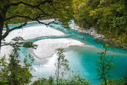 mountaspiringnationalpark otago newzealand nz kiltro river water landscape trees forest nature flow stream