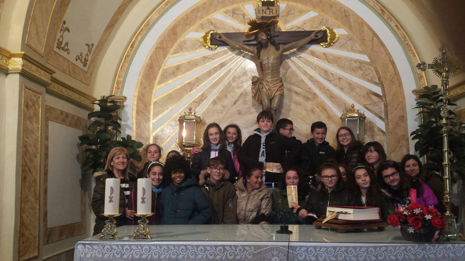 (2018-03-19) - Visita ermita alumnos Yolanda,6º, profesora religión Virrey Poveda - Marzo -  María Isabel Berenguer Brotons - (01)