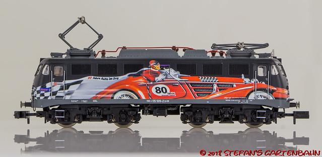Fleischmann 733876 - E-Lok 115 der DB AG - 80 Jahre Autozug
