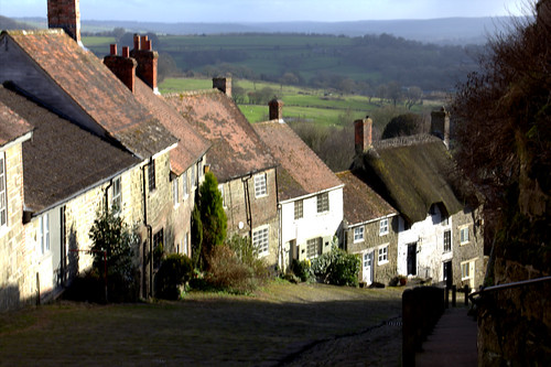 gold hill hovis bread canon60d house cobbled street landscape photography shade dorset countryside advertisment comercial building tree sunset grass field thatchedcottage