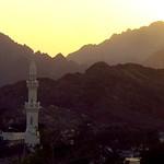 Golden dusty sunset in Hatta