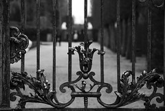 18th-century gate monochrome
