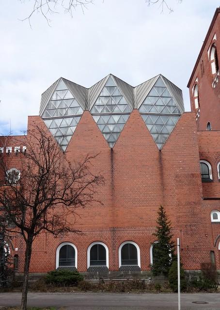 1957/60 Berlin-W. Neubau evangelische Epiphanien-Kirche von Konrad Sage Knobelsdorffstraße 72 in 14059 Charlottenburg