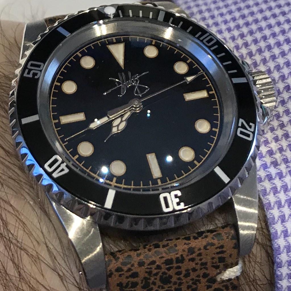 Wrist shot - Daniel Hodge 1016 divers watch
