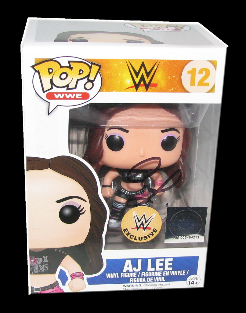 AJ Lee Autographed WWE EXCLUSIVE Pop! Funko Vinyl Figure
