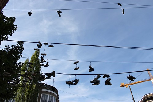 Shoes on wires, Capitol Hill | by SounderBruce