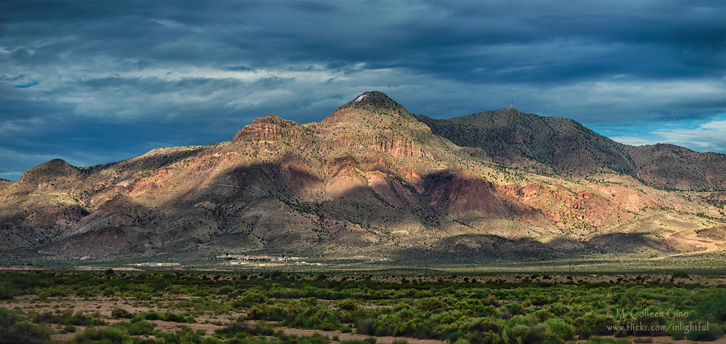 M Mountain | Shadowy M Mountain in Socorro, New Mexico. 1507 ...