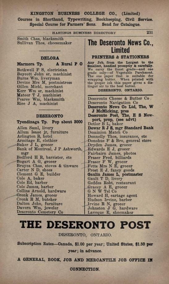 Vernon's Hastings Business Directory 1915 p 231 |