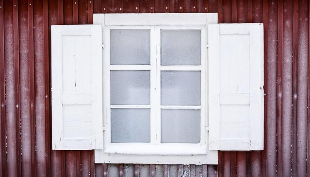 Frosty window, Sweden
