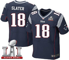 Nike Patriots #18 Matt Slater Navy Blue Team Color Super Bowl LI 51 Men's Stitched NFL Elite Jersey 1