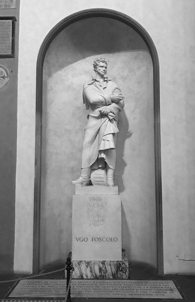 Tomb of Ugo Foscolo by Antonio Berti, Basilica di Santa Croce, Florence, Italy.