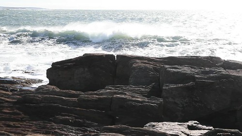 maine harpswell baileyisland ocean waves storm video