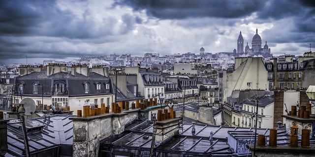 Sur les toits de Paris...