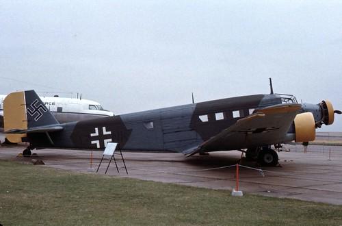 Junkers JU-53 3/m (CASA 352) at the IWM Duxford, 1978