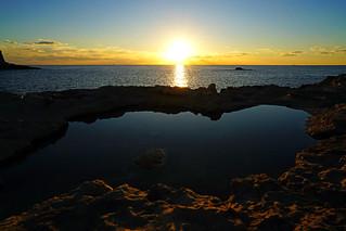 Dwejra Bay sunset, Gozo, Malta