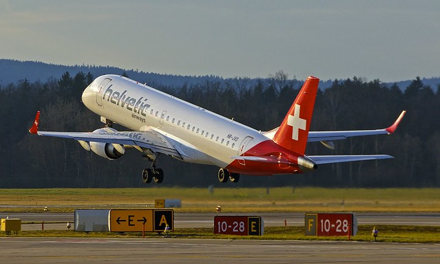 ZRH/LSZH: HelveticAirways Embraer 190LR (ERJ-190-100LR) HB-JVO