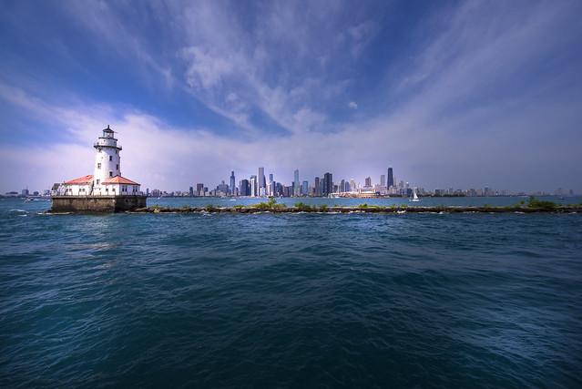 Chicago Harbor Lighthouse - Chicago - Illinois - USA