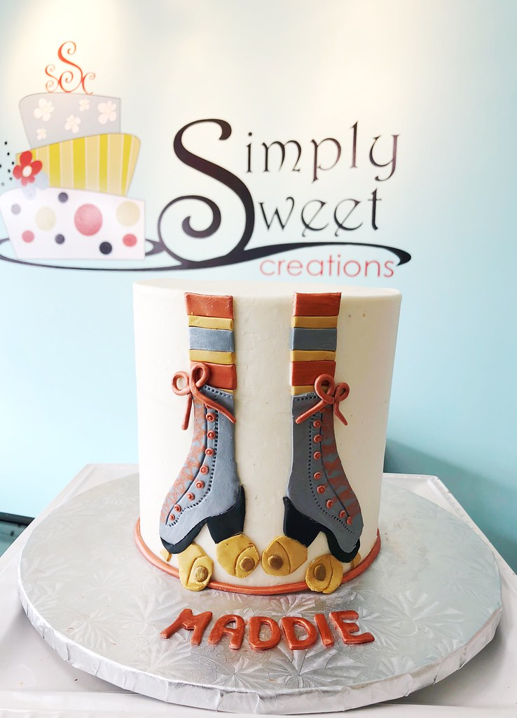 Magnificent Roller Skate Birthday Cake Simply Sweet Creations Flickr Personalised Birthday Cards Petedlily Jamesorg