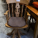 Pine carver swivel chair with arms E45