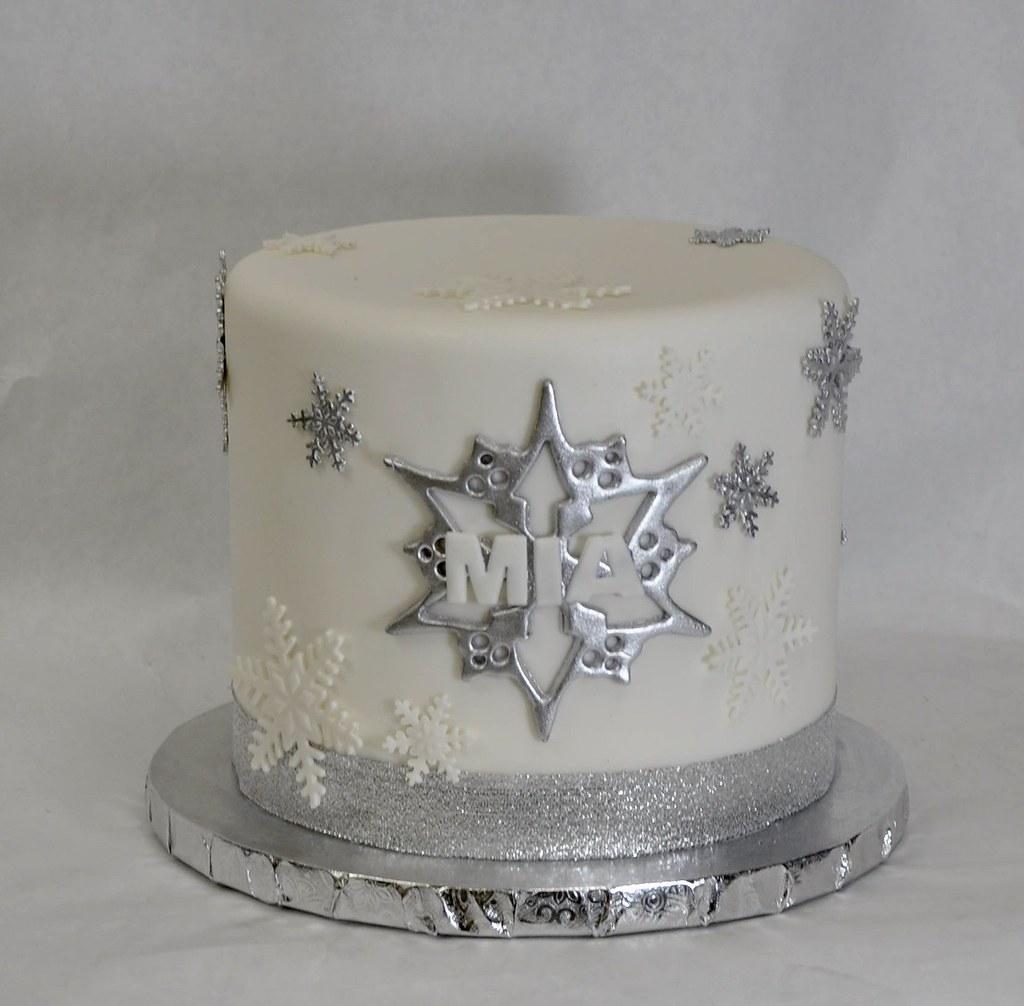 Marvelous Snowflake Birthday Cake Jenny Wenny Flickr Personalised Birthday Cards Beptaeletsinfo