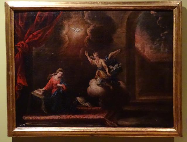 La Anunciacion Museo del Castillo de javier Pinturas sobre la vida de Jesucristo Navarra