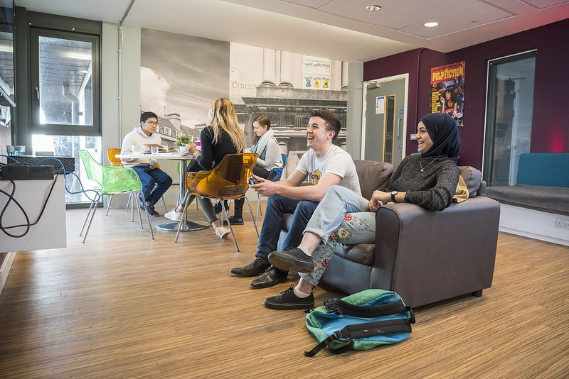 Students in a social space.