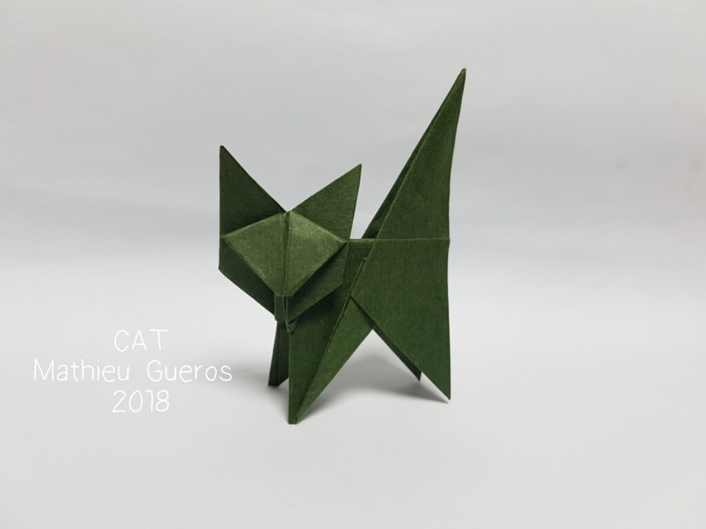 step by step instructions how to make origami A Cat.: Royalty-free ... | 768x1024