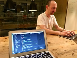 Had some great discussions with @qubyte at Homebrew Website Club Brighton—webmentions, service workers, static sites …lots of food for thought. | by adactio